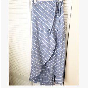 Dresses & Skirts - Linen Maxi Wrap Skirt XL